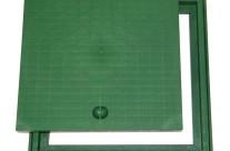 Tampas e Grelhas com aro em PP – Verde